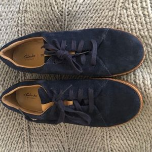 Clark's Navy Suede Casual Shoes